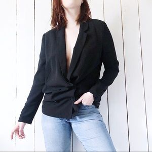 Forever 21 Classic Double Breasted Blazer Black